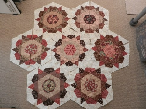 Antique Rose Star blocks